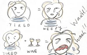 Tired + Wine = WAaaaah!