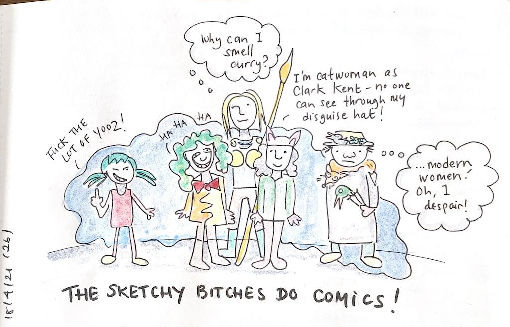 The Sketchy Bitches do Comics!