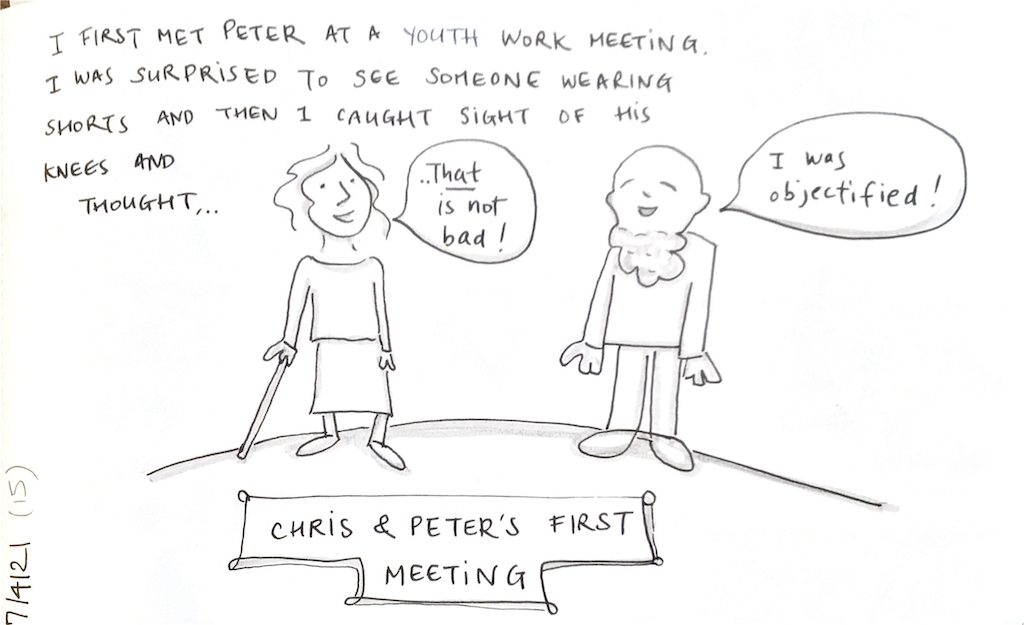Chris and Peter's First Meeting