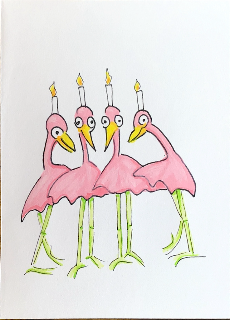 …four candles.
