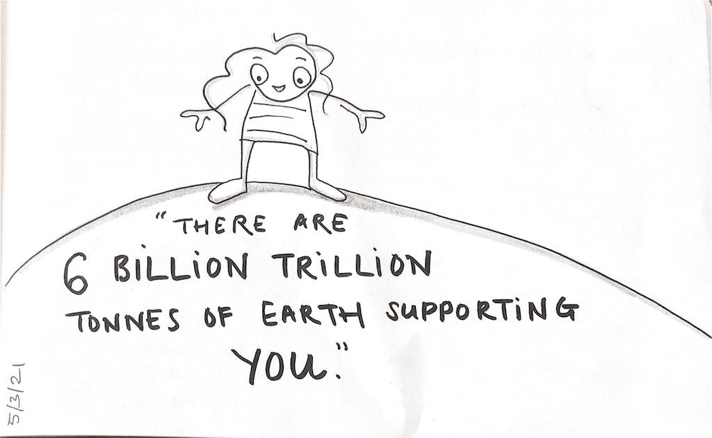 There are 6 billion trillion tonnes…